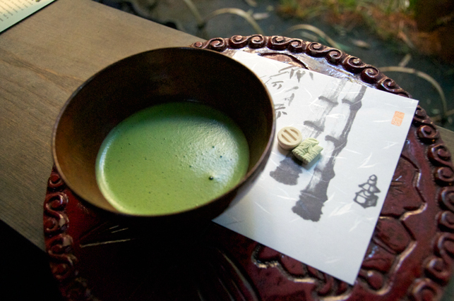 PHOTO: Macha Green Tea with Candy Sweets